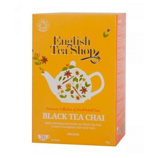 English Tea Shop BLACK TEA CHAI BIO 20 x 2 g