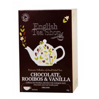 English Tea Shop CHOCOLATE, ROOIBOS, VANILLA BIO 20 x 2 g
