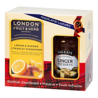 London Fruit & Herb GINGER & LEMON Dárková sada 340 g