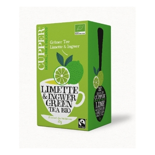 Cupper LIME & GINGER GREEN BIO 20 x 1,75 g