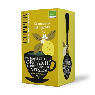 Cupper LEMON & GINGER BIO 20 x 2,5 g