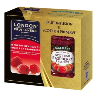London Fruit & Herb RASPBERRY Dárková sada 340 g