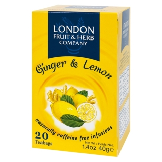 London Fruit & Herb GINGER & LEMON 20 x 2 g